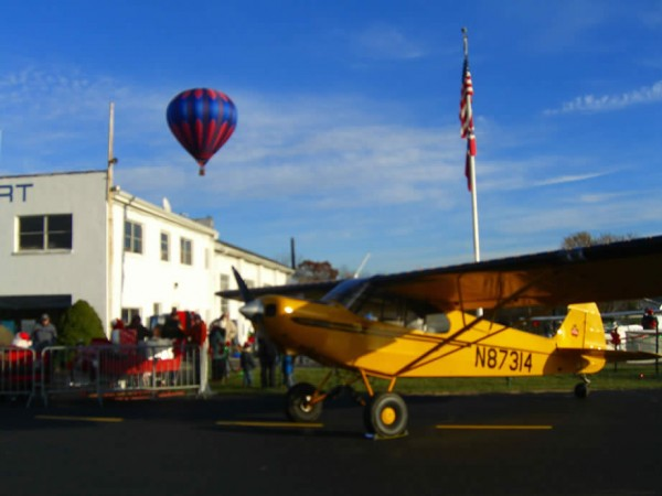 Santa Arrives At Solberg Airport, Saturday, November 25, 2017