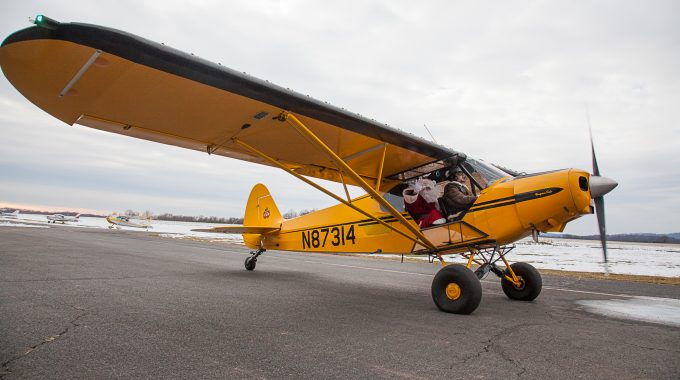 Santa Arrives By Airplane To Solberg Airport Saturday, November 24, 2018